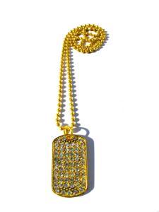 Dog Tag Halsband med Kristaller