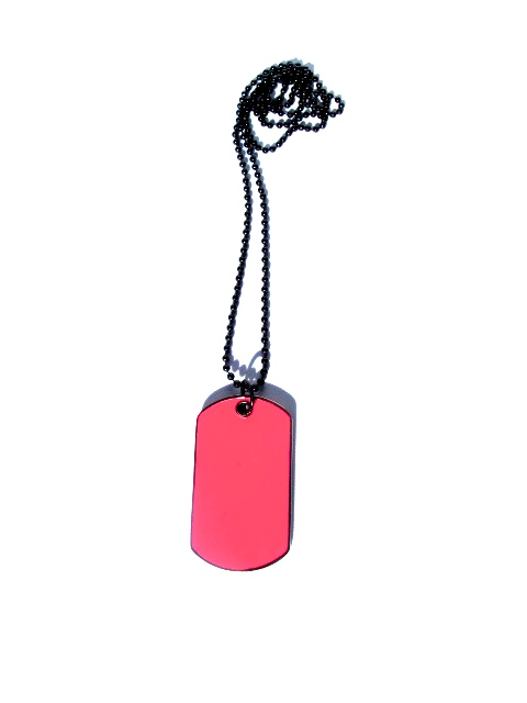 Dog Tag Halsband Rosa