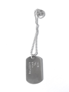 Dog Tag Halsband Silverfärgad