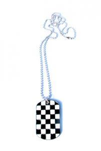 Dog Tag Halsband Schackrutor
