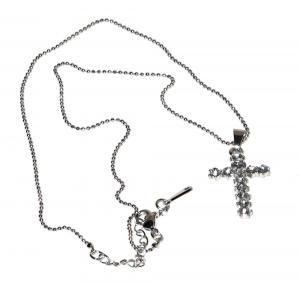 Kors halsband silverfärgad