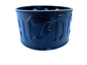 AC/DC läderarmband svart