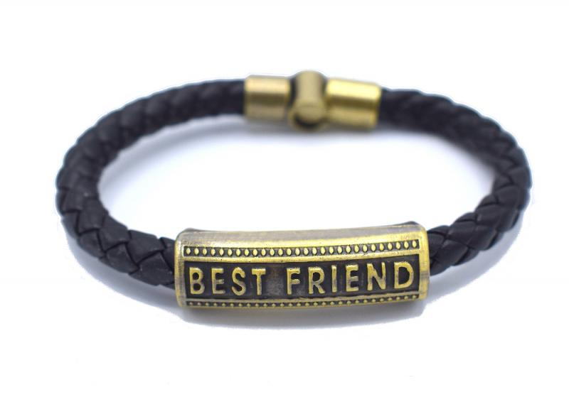 BEST FRIEND LÄDERARMBAND
