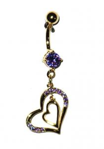 Navel Piercing - Purple Heart