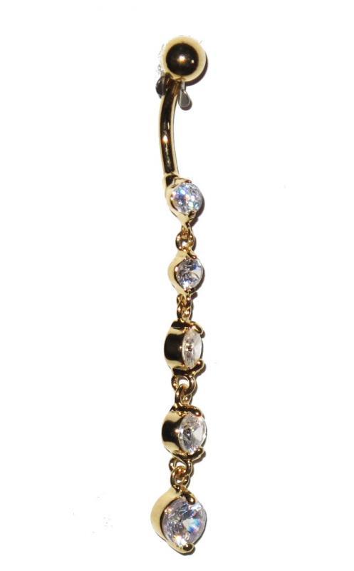 Navel Piercing - White Pearls