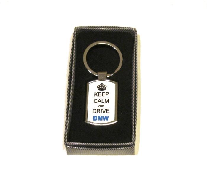 Keep calm and drive BMW - NYCKELRING