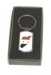 SYRIEN KARTA FLAGGA - NYCKELRING