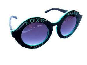Runda turkosa och svarta solglasögon - XOXO LOVE