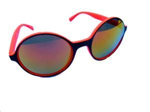 Runda orange svarta solglasögon