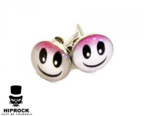 Knappörhängen - Smiley