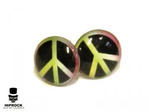 Knappörhängen - Peace