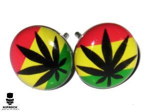 Knappörhängen - Marijuana