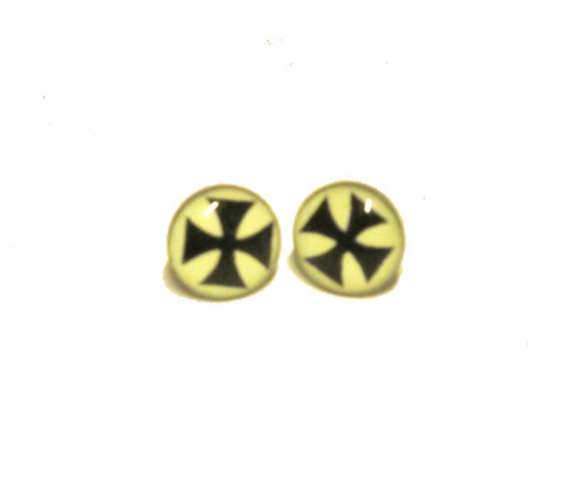 Knappörhängen - Malteserkors