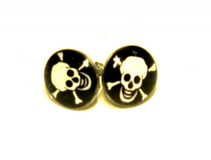 Knappörhängen - Dödskalle