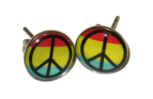 Knappörhänge - Rasta peace