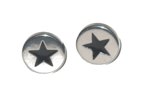 Knappörhänge - Svart stjärna