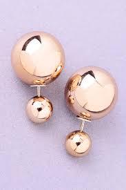 örhängen med dubbla pärlor
