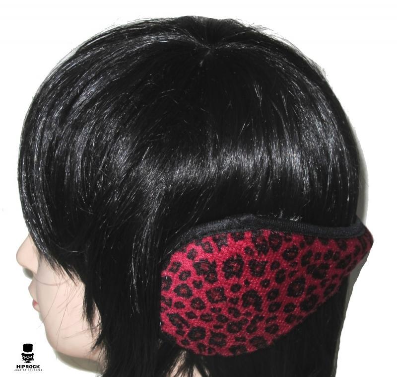 Öronmuffar - Leopard Röd