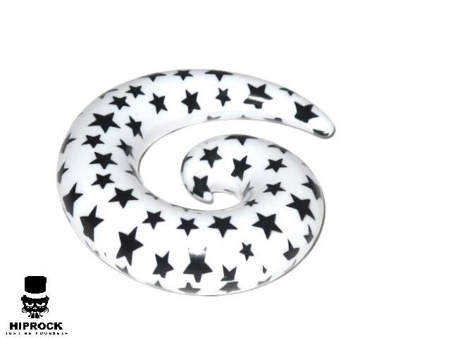 Töjning - Stjärnor Vit Spiral