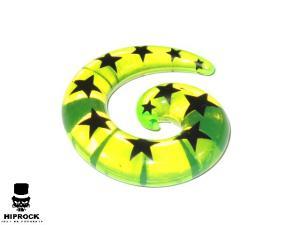 Töjning - Stjärnor Limegrön Spiral