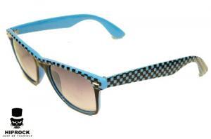 Wayfarer Solglasögon - Blå Rutig