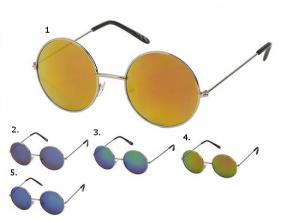 Runda reflekterande solglasögon