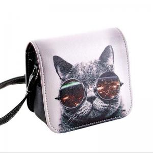Katt med glasögon Axelväska