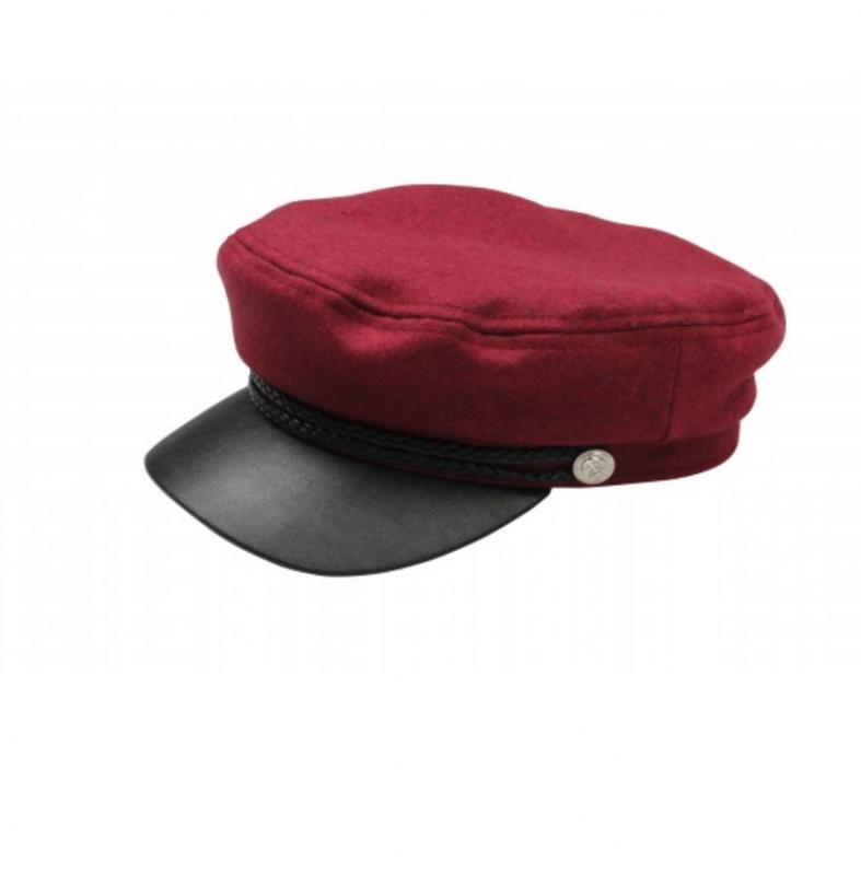 Röd/svart  Skepparmössa Vegamössa