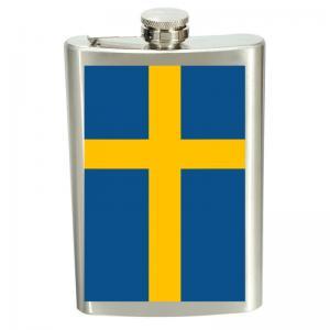 Plunta SWEDEN flagga - rostfritt stål