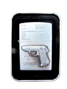 Pistol PPK - Silverfärgad bensintändare