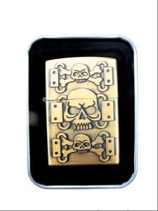 Döskalle - Guldfärgad bensintändare