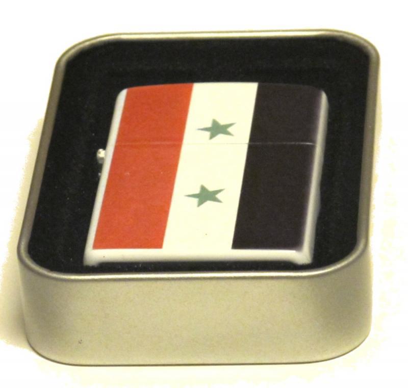 SYRIEN FLAGGA-BENSINTÄNDARE