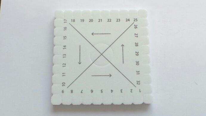 Kumihimo square 10 cm