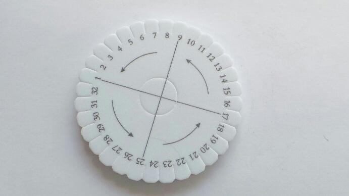 Kumihimo rund 10 cm