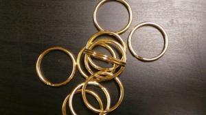Nyckelringar 10 st. mässing