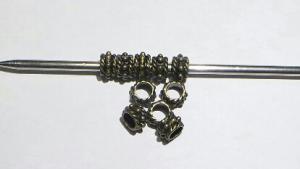 Metall pärlor 10-pack