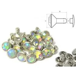 Nit Rhinestone AB 6 mm. 5-pack