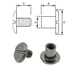 Steele Svart Dubbel-skruv 6 mm. 5-pack