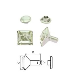 Nit  Square Crystal 4x4 mm. 5-pack
