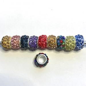 Polymer clay rhinestone 5-pack mix.