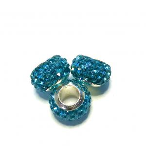 Stainless steel, 3-pack Polym. clay rhinestone.