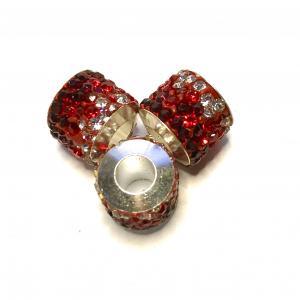 Rhinestone polym. bead.