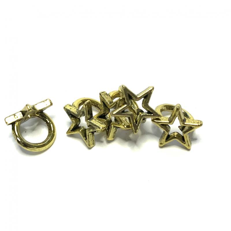 5-pack Metallpärlor Star