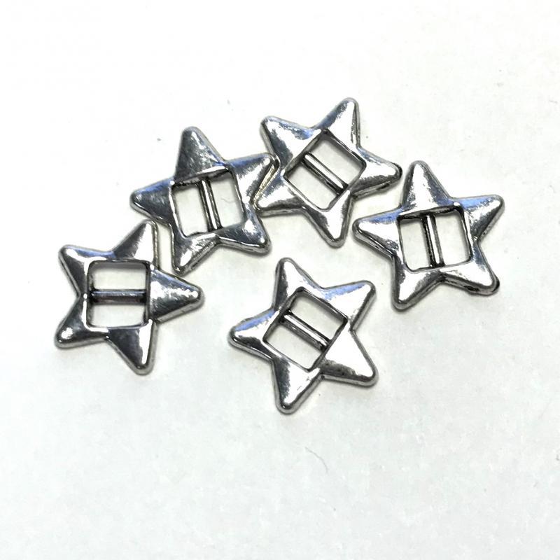 Metall Slide-beads Star 5-pack.