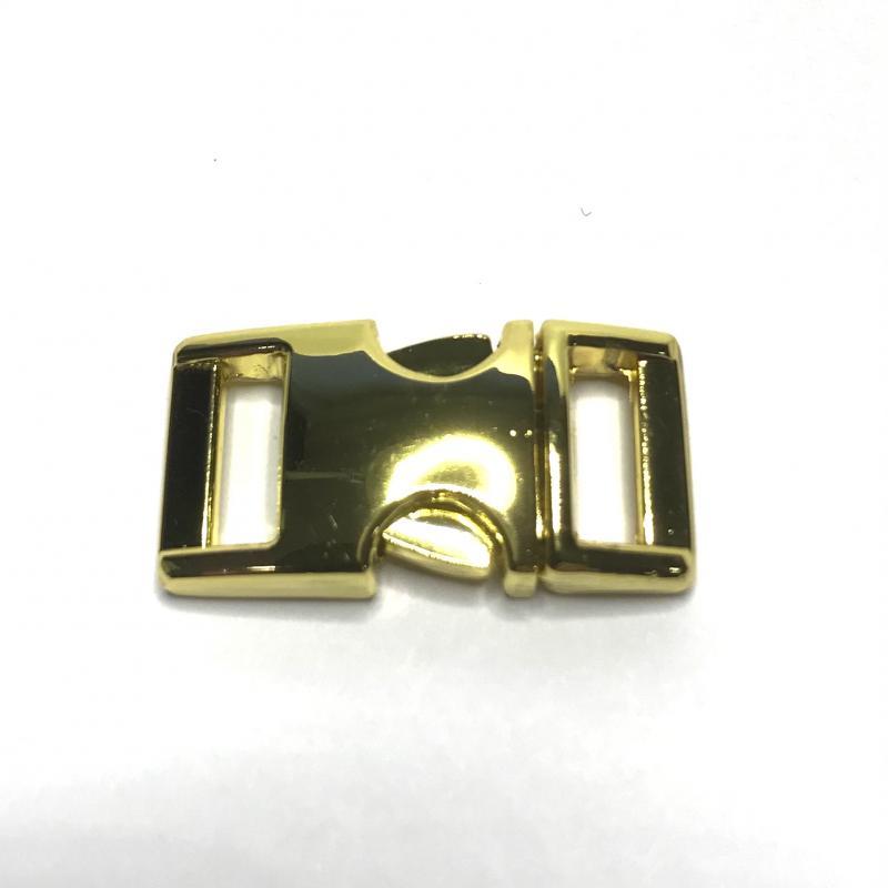 Snäpplås 10 mm. Guldfärgad.