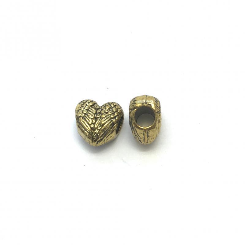 2-pack Metallpärla Hjärta