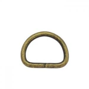 D-ringar 20 mm. 5-pack Antik mässing.