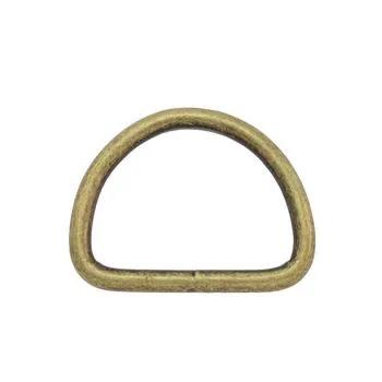 D-ringar 26 mm. 5-pack Antik mässing.