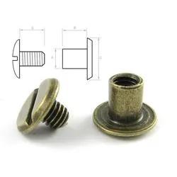 Stålskruv 4 mm. 5-pack