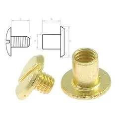 Brass plated 5 mm. 5-pack